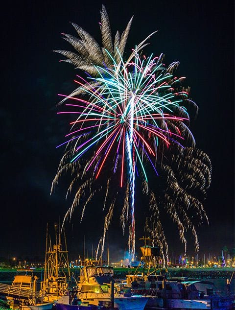 parade of lights fireworks