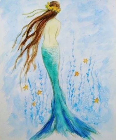 tina mermaid art