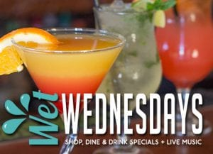 Enjoying Wet Wednesday with some fun drinks, delicious dining, and a great time!