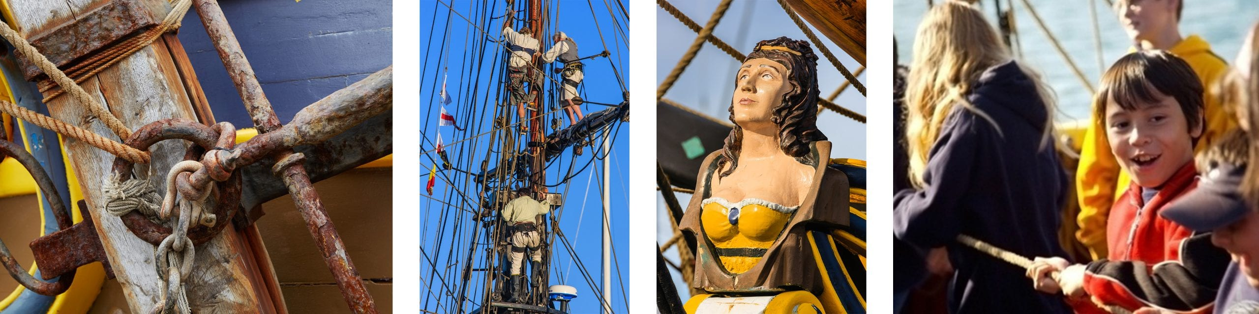 close up images of the tall ships magic, beauty, and historical treasures