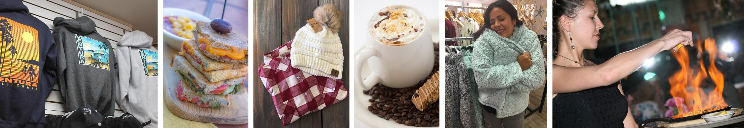 so many ways to warm yourself seaside! grab a comfy sweatshirt, enjoy some warm food, sip on a hot drink, wrap yourself in a cozy sweater, toast yourself by the fire