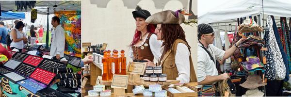 Montage of Pirate Vendors