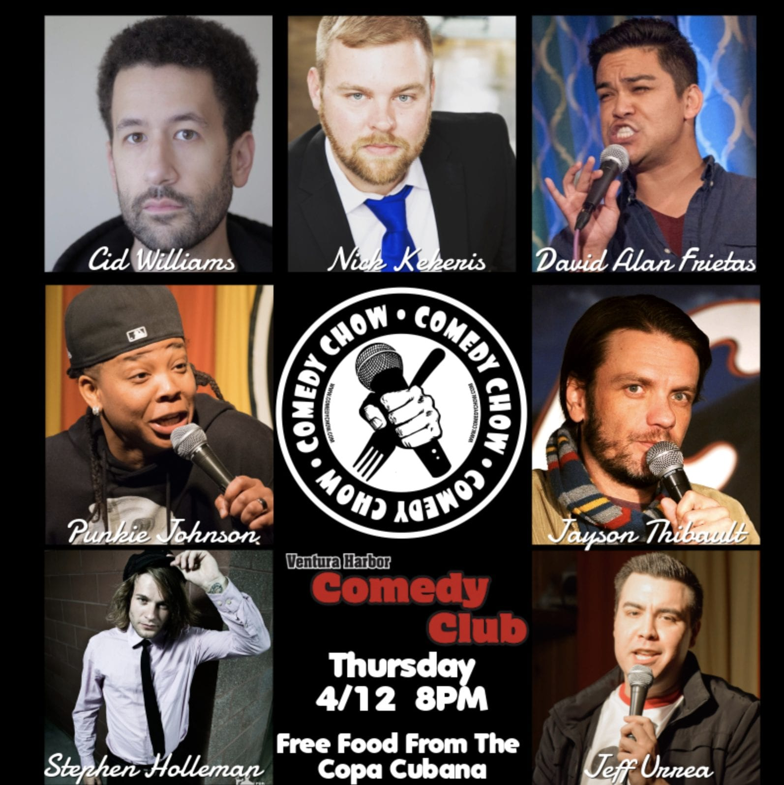 comedy chow featuring each of the comedians participating