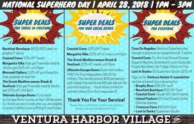 national superhero day ventura harbor village california s