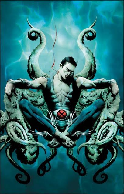 Namor sitting in his throne under the water