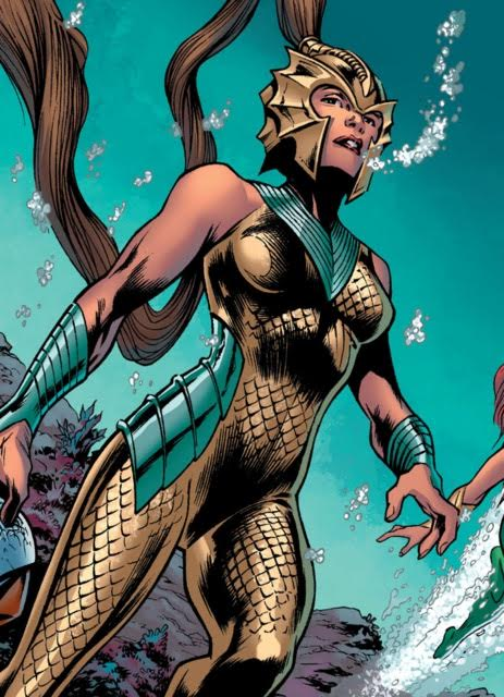 Tula scans the ocean floor for trouble covered in her golden scales