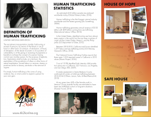 Help Escape Human Trafficking Trifold Side 2