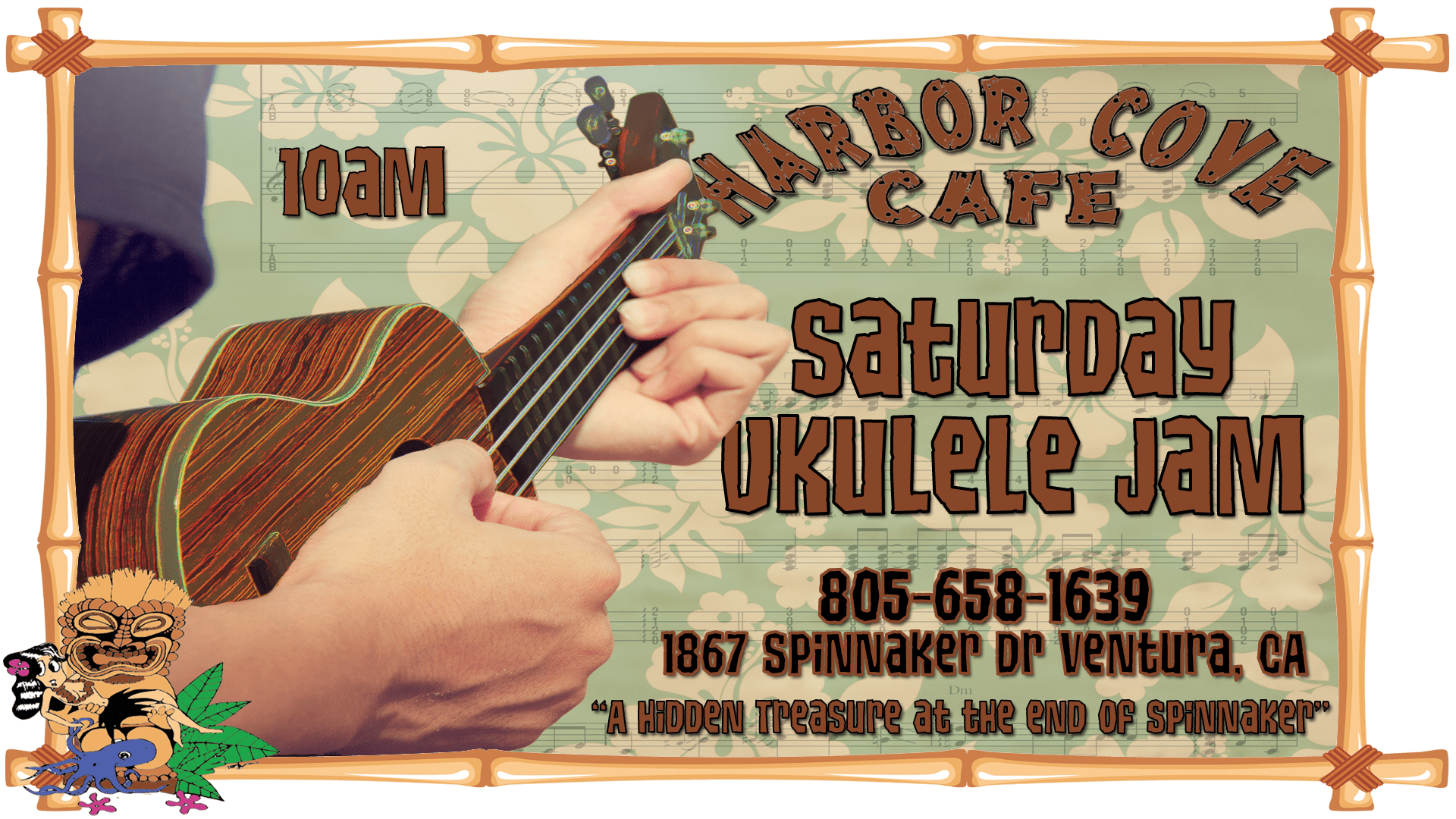 Saturday Night Ukulele Jams at Harbor Cove Cafe