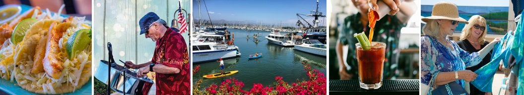 shop, dine, play, and don't forget to relax and unwind this summer at Ventura harbor for waterfront Wednesdays!