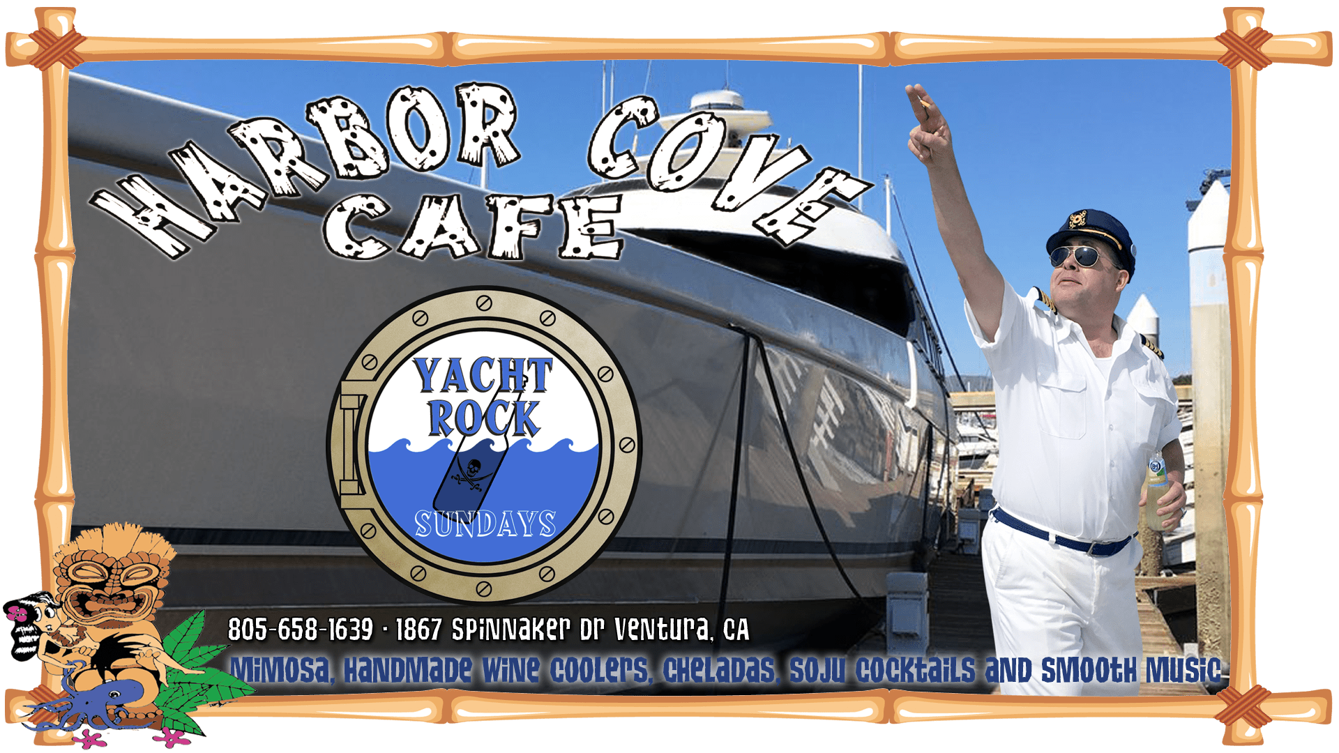 Harbor Cove Cafe Yacht Rock on Sundays!