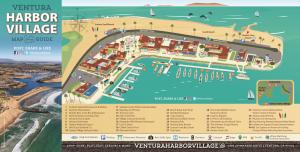 summer 2018 map of Ventura Harbor Village