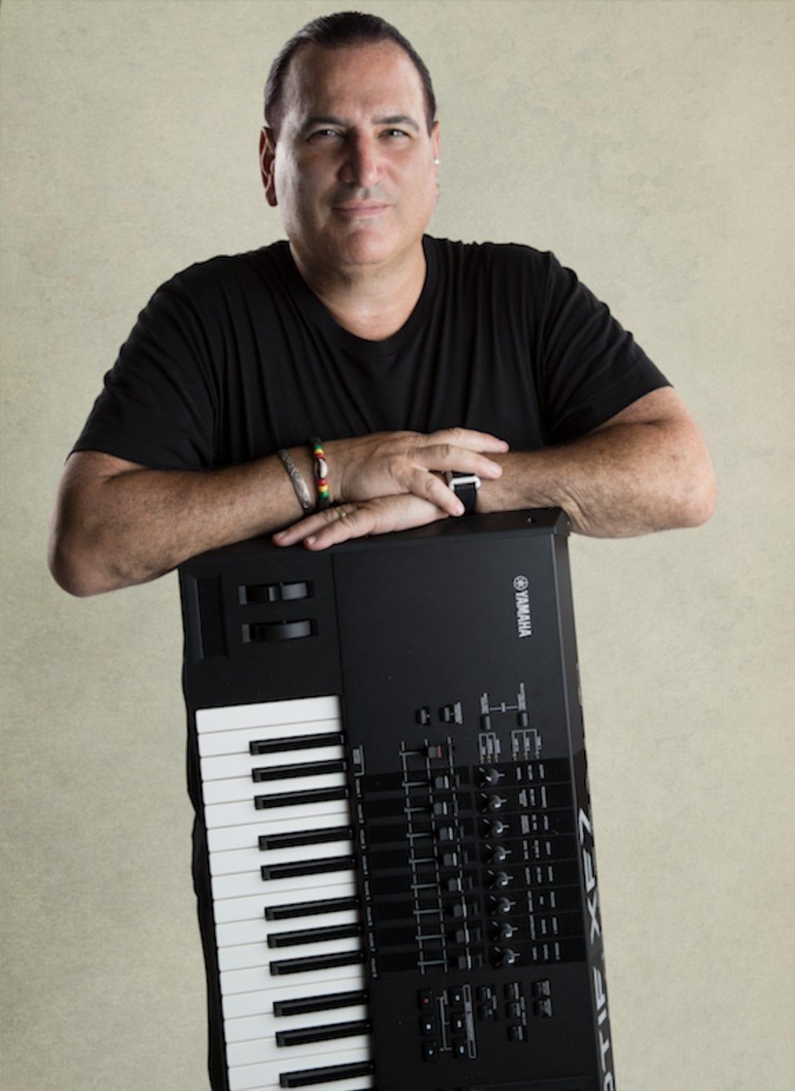 David Garfield and his instrument