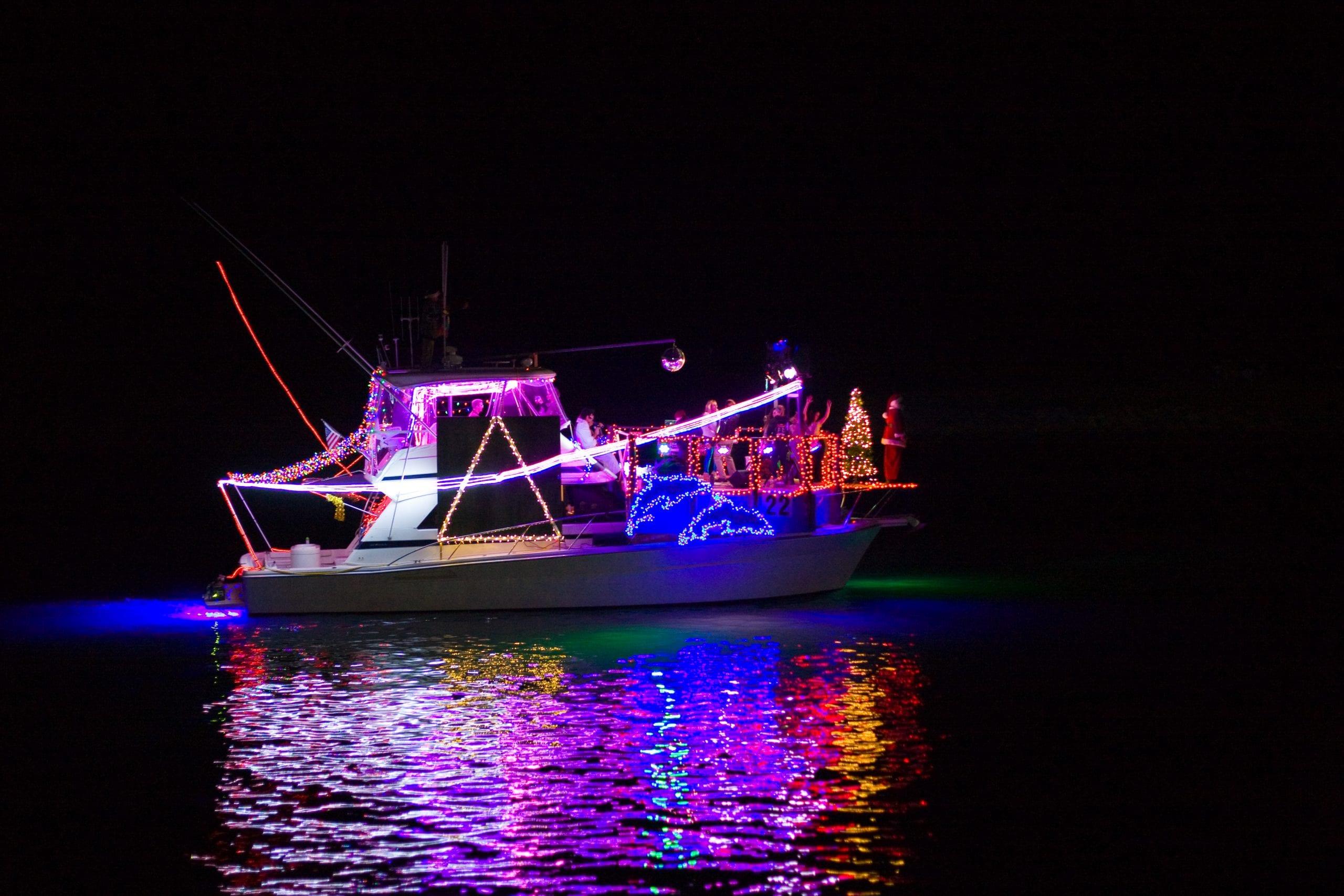 parade of lights in ventura harbor village