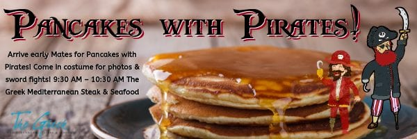 have pancakes with a pirate
