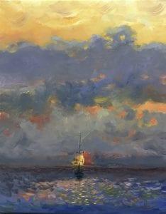 Mahony Sailing at Sunset