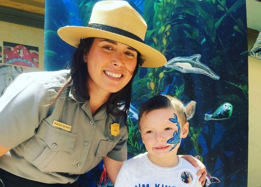 park ranger and child