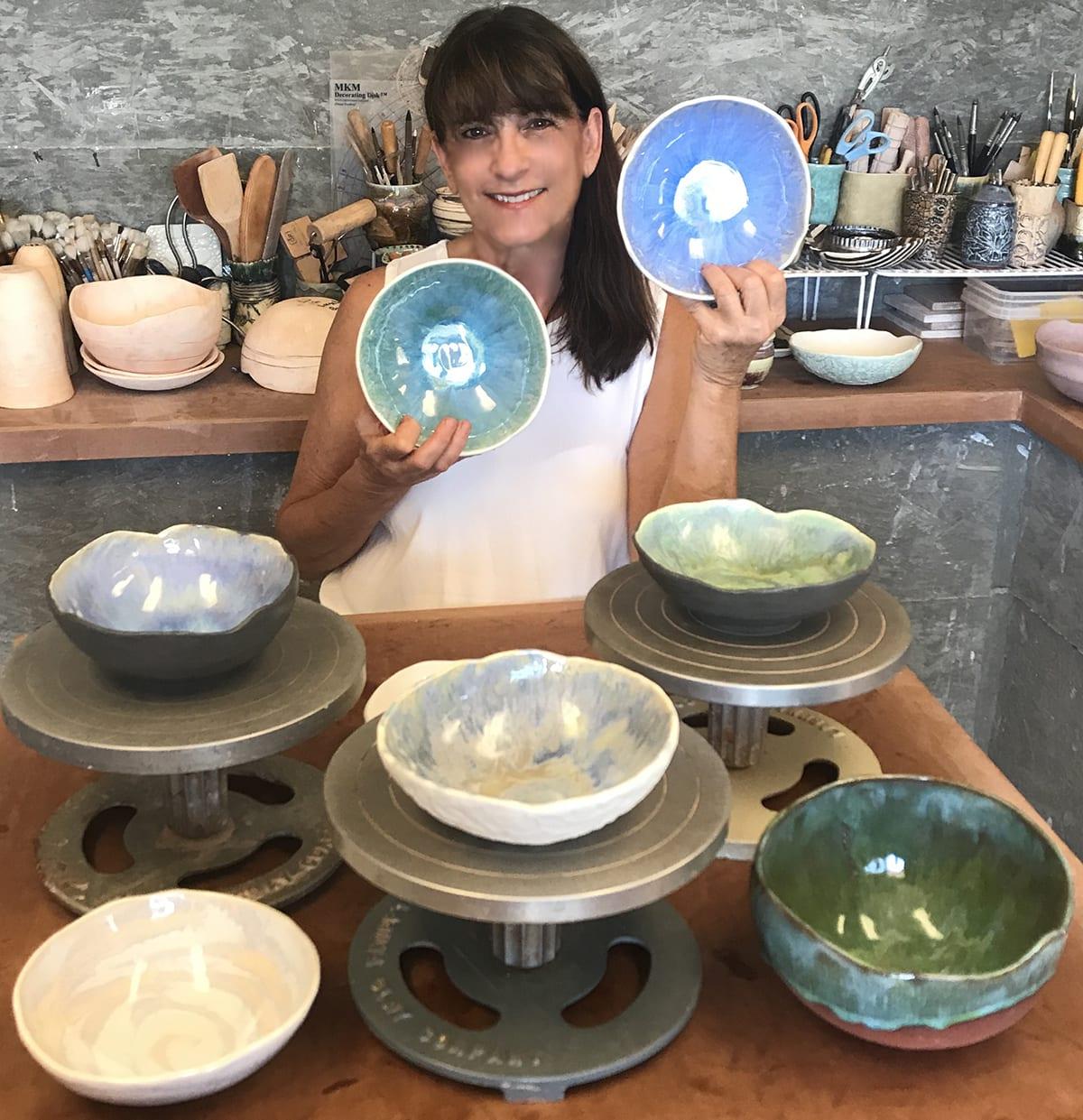 Ellen with Bowls