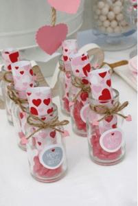 Heart shaped bath salts