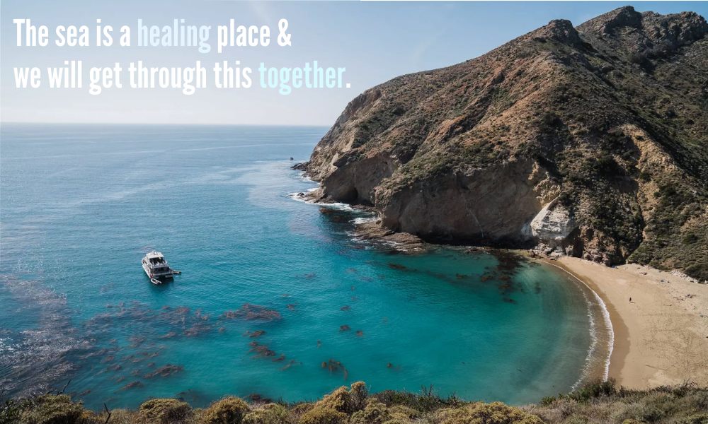The sea is a healing place
