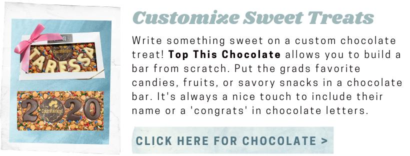 Top This Chocolate graduation chocolate bars