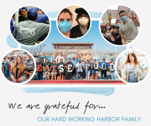 We are grateful for... are hard working harbor family