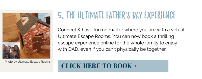 Connect & have fun no matter where you are with a virtual Ultimate Escape Rooms. You can now book a thrilling escape experience online for the whole family to enjoy with DAD, even if you can't physically be together.