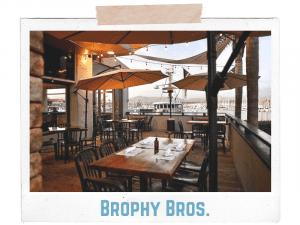 brophy bros patio overlooking the marina
