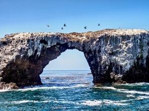 giant rock in the ocean