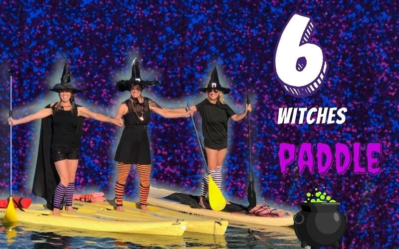 halloween witches paddle