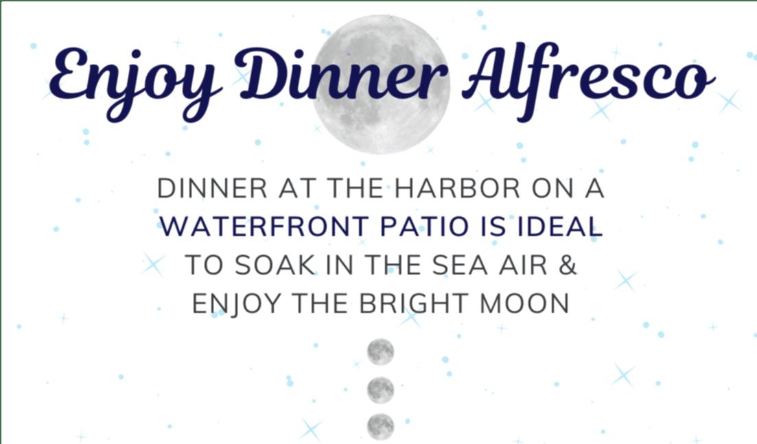 enjoy dinner alfresco