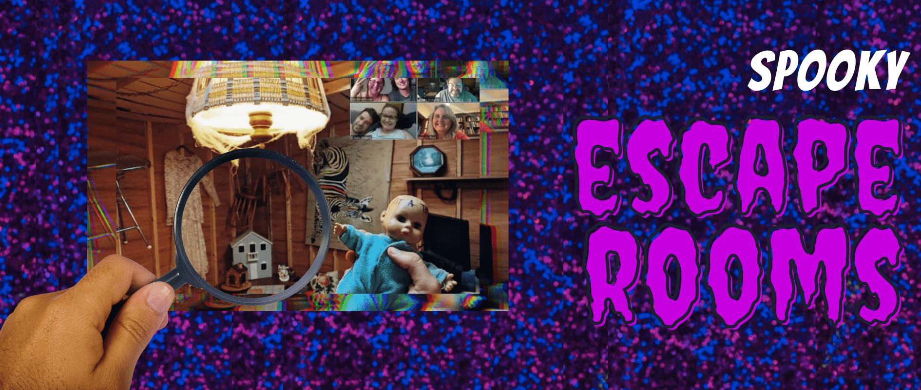 halloween banner escape rooms