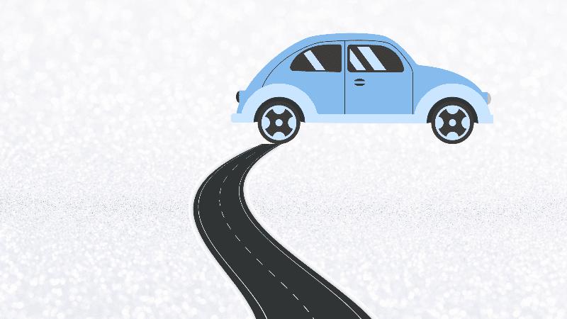 a car and a road design