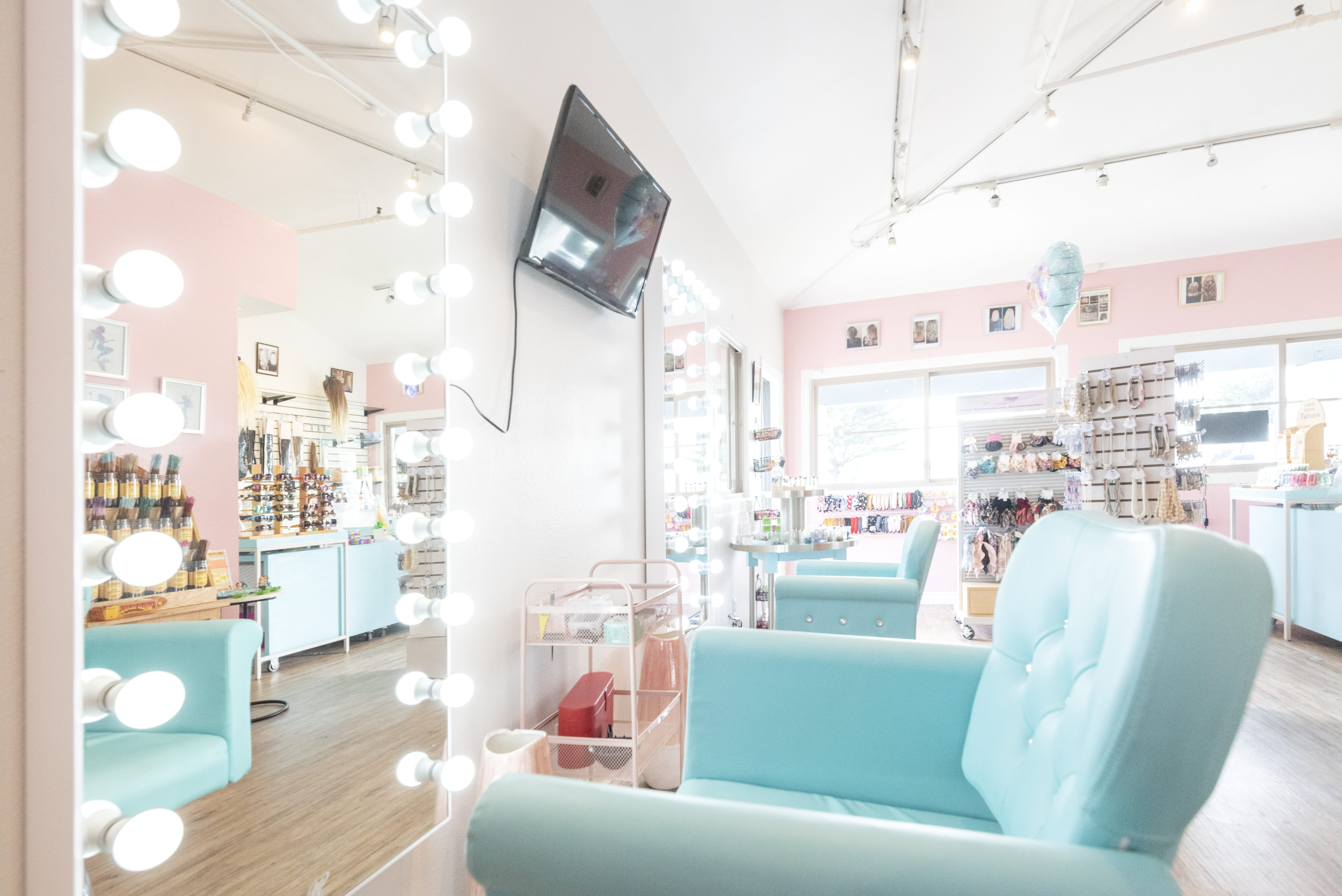 Hair extensions by Shirley retail space