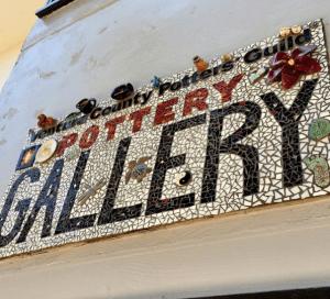 Ventura Pottery Gallery mosaic sign