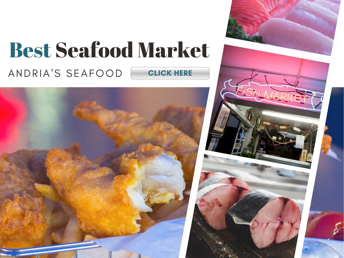 fish market sign and fresh fish
